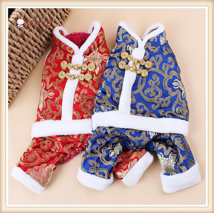 Hot Sale Pet Clothes New Year Tang Dog Clothes With Four Legs