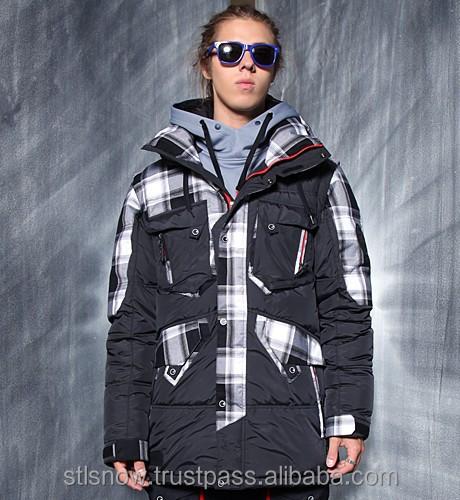 2014/2015 High quality Unisex warm Ski Snowboard jacket,Jazz Jacket Black/BlackGradationCheck