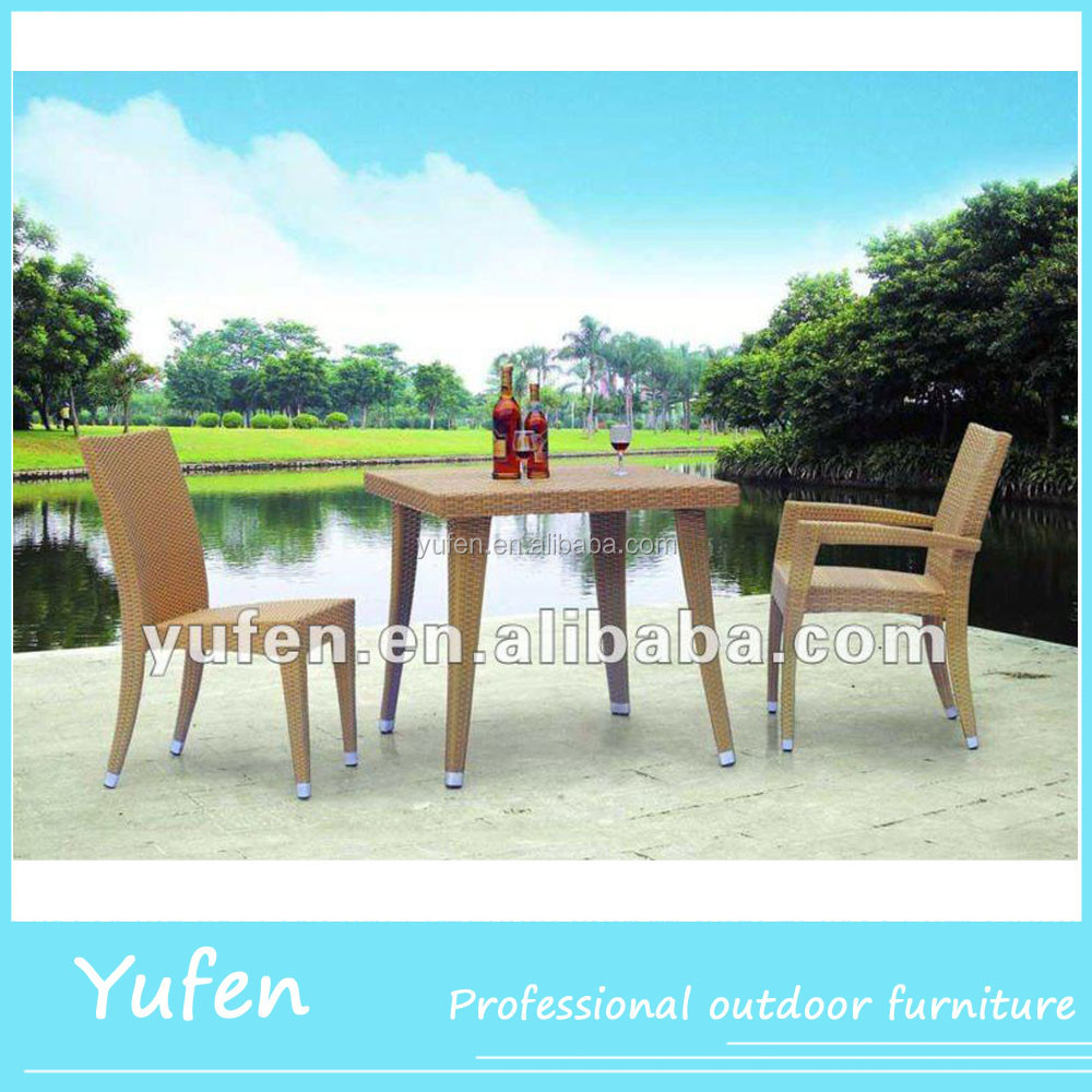 outdoor furniture resin wicker plastic cafe chair