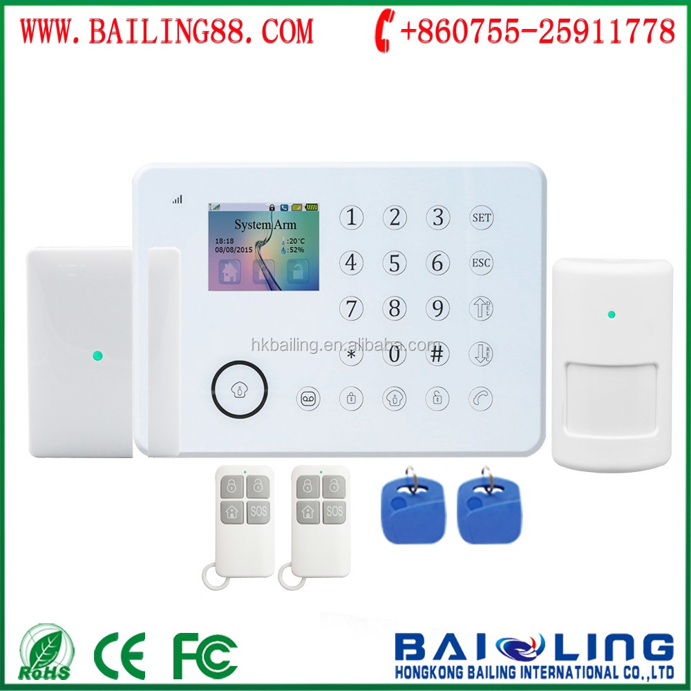 best price GSM smart home security alarm system wireless GSM PSTN dual network burglar alarm system