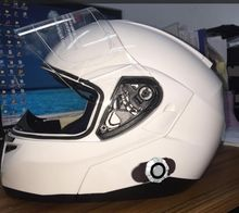 2016 New motorbike Bluetooth helmet DOT approved flip up helmet with double visors