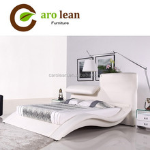 C322 luxury leather bed with hot selling model