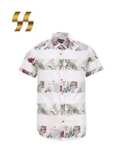 latest printed new style half cotton shirts for men pictures