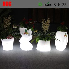 Glowing illuminated cheap flower vases, outdoor and indoor round shape ceramic flower vases