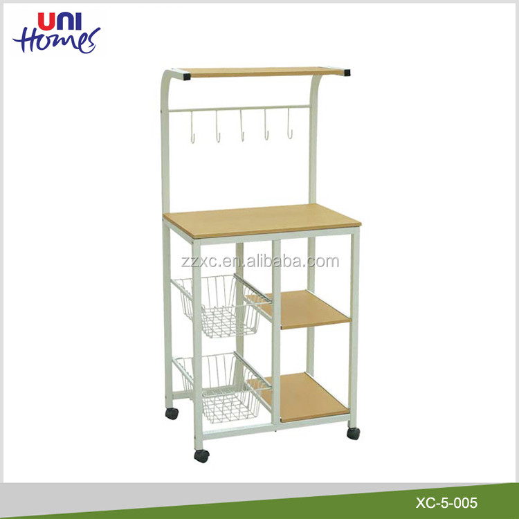 Kitchen Microwave Oven Stand On Casters