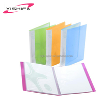 Factory Custom colorful cover clear pockets A4 size pp display book with high quality