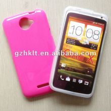 2012 red color new design TPU phone case small order acceptable mobile phone case quickly delievery phone cover for HTC ONE X