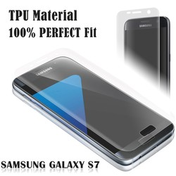 New whole transparent TPU screen protector for samsung s7 edge