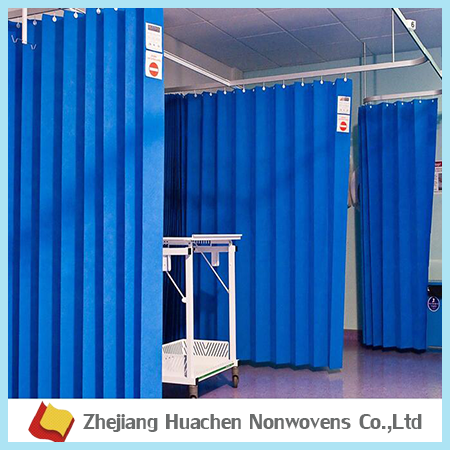 Zhejiang Huachen100 % Polypropylene Nonwoven manufacturer polypropylene medical clinic disposable hospital curtains