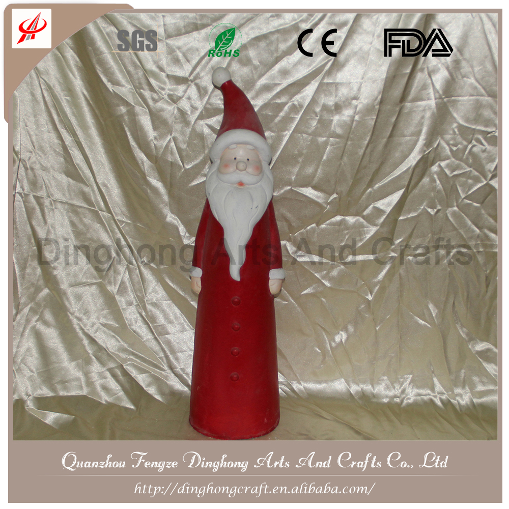 Chinese Manufacturer Small Hanging Glass Santa Claus Door Decoration