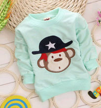 2014 new design beautiful Naughty Monkey baby boys t-shirt