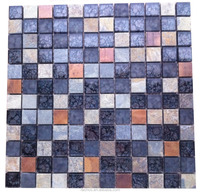 High quality ceramic mosaic glass mix stone decoration of houses interior