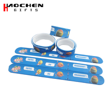 Custom Hight Quality Full Color Print Silicone Slap Bracelet Manufactures