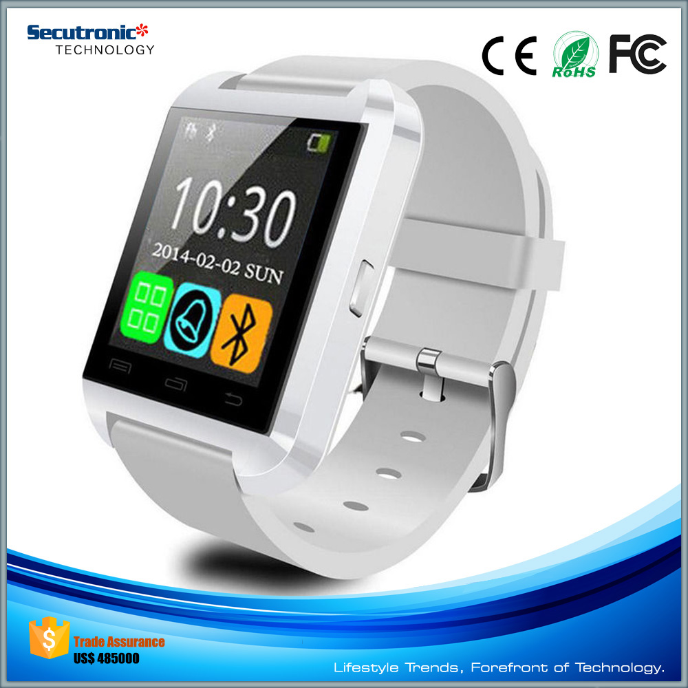 Free Sample Cheapest Bluetooch Smart Wrist Watch Mobile Phone U8 Smartwatch with Touch Screen