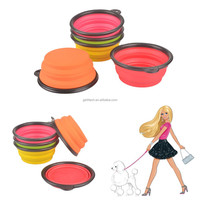 Hot selling Brand 300ml Camping Folding Dog Bowl Folding Plate Outdoor Tableware Light Weight Foldable Bowl