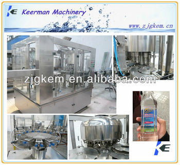 3-in-1 bottled filling line for water auto machine 2013