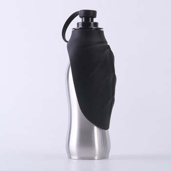 Portable 18/8 stainless steel bpa free dog cat water bottle for travel