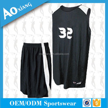 Cheap good quality new model sportswear school basketball jersey