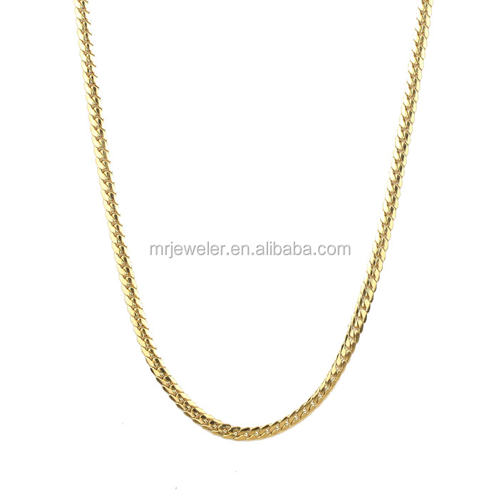 4mm pvd plated different types of gold necklace chains jewelry designs, men gold chains