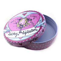 hinged tin boxes wholesale,jewelry tin box,round cosmetic tin box