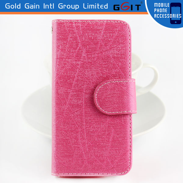 For iPhone 5 Magnetic Flip PU Leather Pouch, Wallet Hard Case Cover For iPhone 5