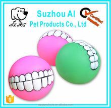 Dog Ball Chew Toy to Hide Treats Smile Squeaker Ball