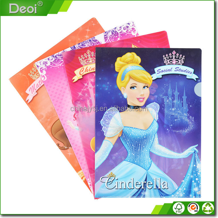 Customized Printing Plastic Clear File Folder A4 Holder