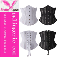 New Improved Corset Gothic Slimming Waist Trainer Corsets Cotton Steel Corset XS-3XL