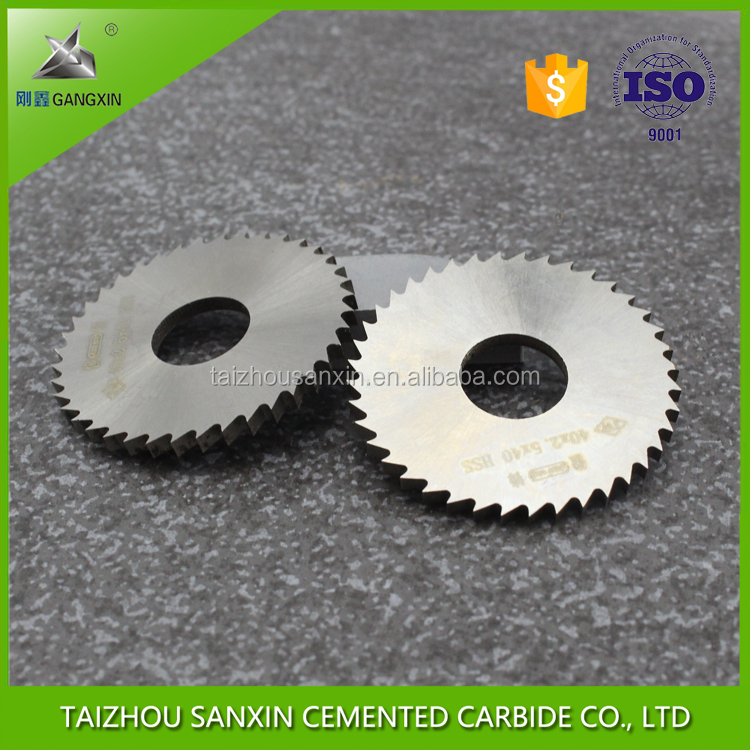 tungsten carbide milling cutter slitting saw blade for cutting stainless steel