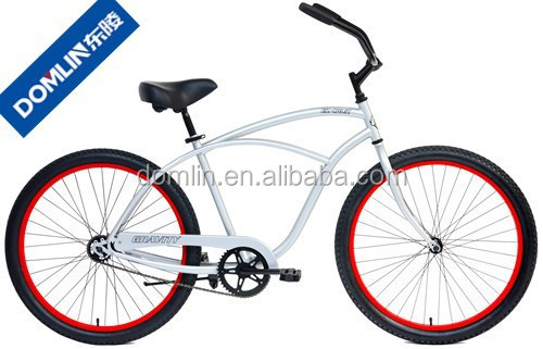cheap price 26 inch hi-ten steel frame men's beach cruiser bike for sale