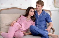 2015 Newest very comfortable 100% organic cotton secret treasures sleepwear lover pajamas dresses for women and man