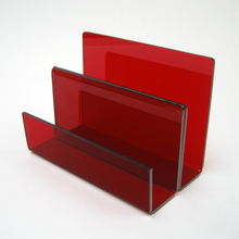 Wholesale Red Acrylic Letter Holder Envelopes File Holders Display Stand Rack
