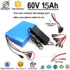 Gold Supplier OEM 7P16S 60V 15Ah rechargeable li-ion battery pack 3.7v BMS