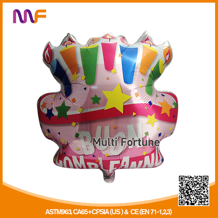 Cake Shaped Mylar Balloon
