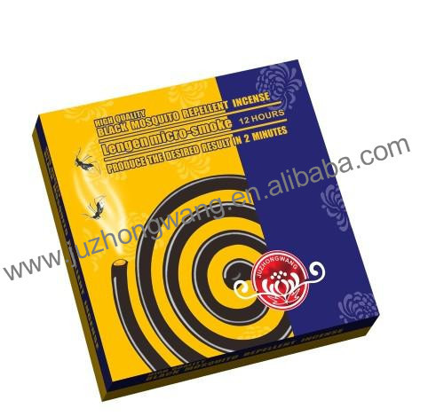China anti mosquito micro smoke black mosquito coil