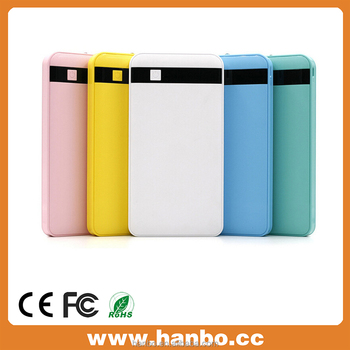 OEM mobile phone 2-Output Portable External Power Bank 10000mah