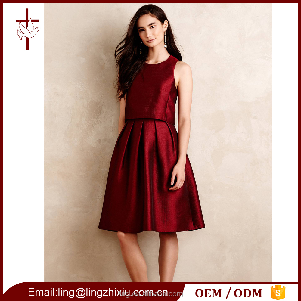 New Design Skater Woman Dress High End Fashion Wholesale Luxury Clothing