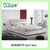 Genuine Leather Bedroom Furniture Soft Modern Bed Designs