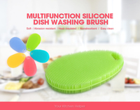 Wholesale promotion heat-resistant bpa free silicone back wash brush