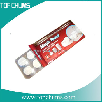 disposable expanding Viscos spa Coin facial towel