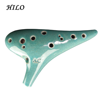 Customized Instrument 12 Holes Ceramic Ocarina
