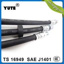 YUTE products SAE j1401 flexible rubber dot hydraulic brake hose with fittings