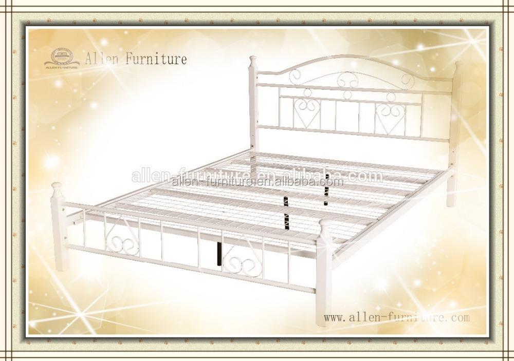 platform queen bed with headboard image