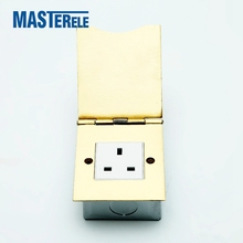 HTD-101 Ultra thin open cover type floor box floor socket