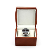 China top quality brown wholesale watch box with claimond veins