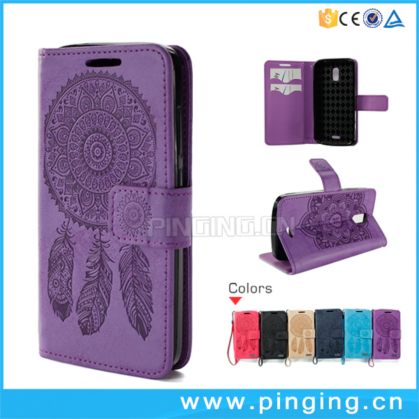 Factory whosale high quality leather mobile phone accessory case for innjoo fire 3 ,flip cover case for innjoo fire 3