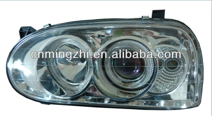HEAD LAMP ANGLE EYE WHITE FOR VW GOLF 3 92-97