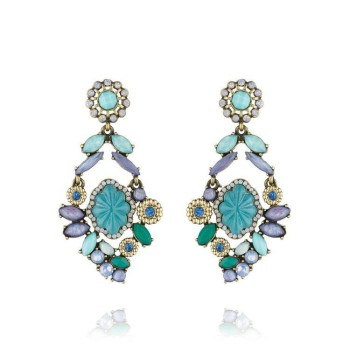 teenage fashion jewelry high quality fashion europe jewelry blue pendant costume earring