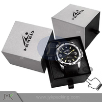Retail cheap high end gift paper watch box with logo hot stamping