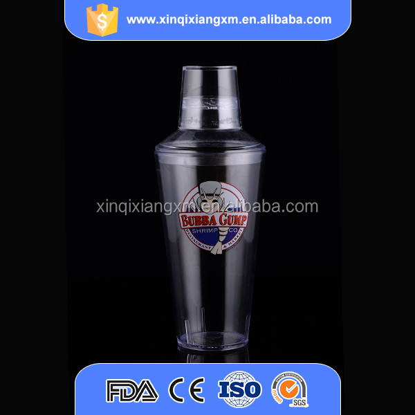 FDA certification durable plastic shaking cup for bar